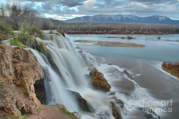 Photograph - Waterfall Into The Snake River by Adam Jewell