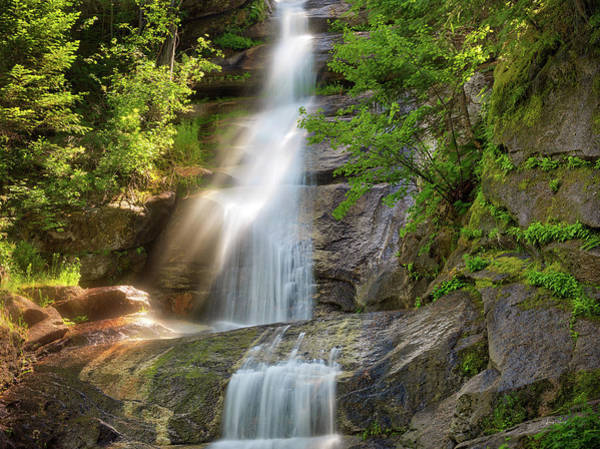 Photograph - Waterfall Mist And Sunlight by Leland D Howard