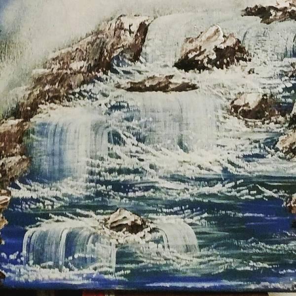 Wall Art - Painting - Waterfall Of Blessings. by Yuliya Kaiser