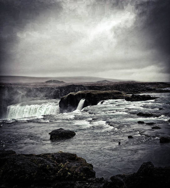Photograph - Waterfall Of The Gods Black And White by Jim Cook