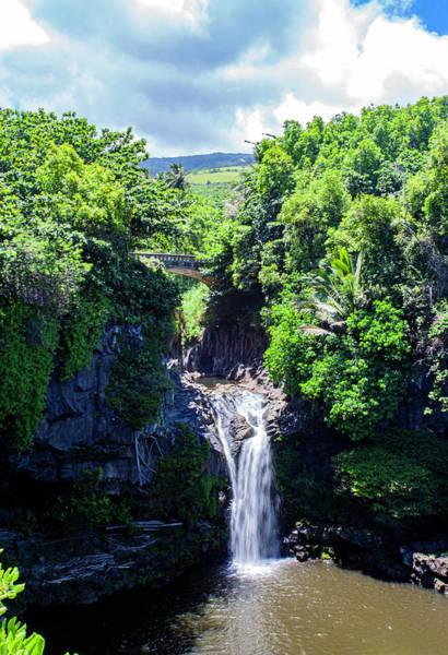 Photograph - Waterfall On Maui by Anthony Jones