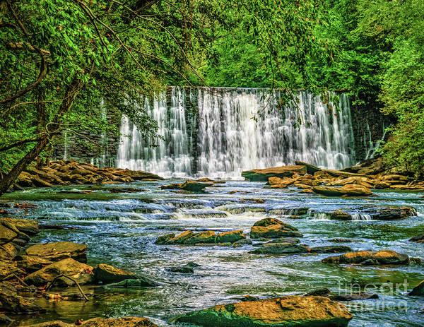 Photograph - Waterfall On Vickery Creek by Nick Zelinsky