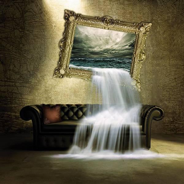 Wall Art - Painting - Waterfall Room by ArtMarketJapan
