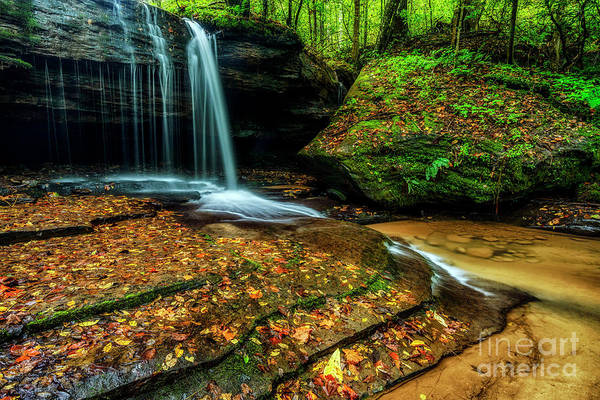 Photograph - Waterfall Stair Steps In Autumn by Thomas R Fletcher