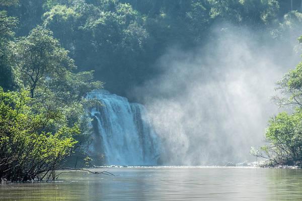 Waterfall, Sunlight And Mist Art Print