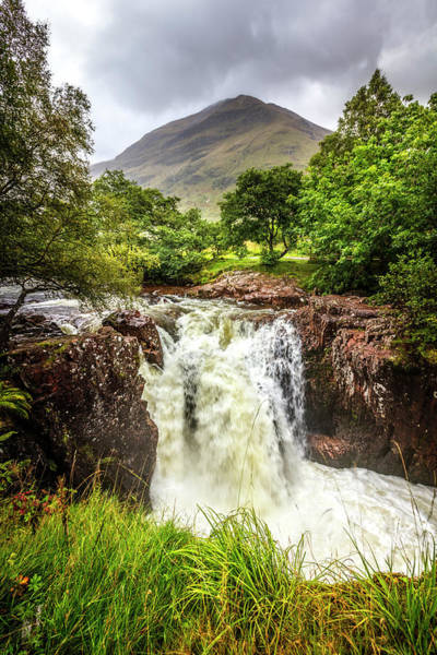 Photograph - Waterfall Under The Mountain by Debra and Dave Vanderlaan