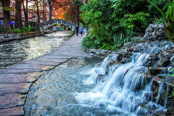 Photograph - Waterfalls And Walkways Along The Riverwalk by Lynn Bauer