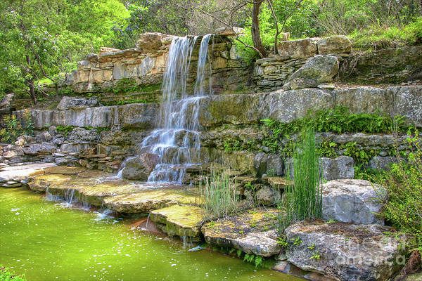 Andrew Jackson Wall Art - Photograph - Waterfalls In Zilker Park Austin Texas by Andrew Jackson