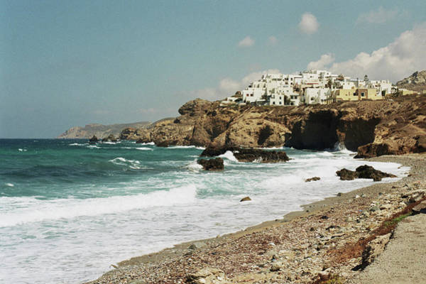 Photograph - Waterfront And Cliffs In Naxos by Deimagine