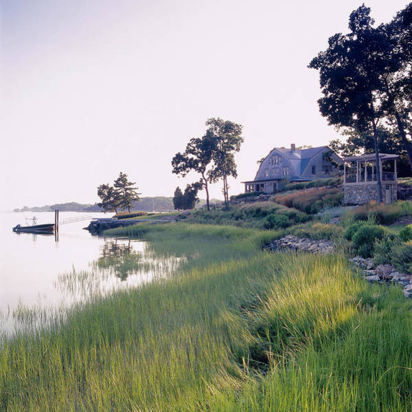 Engine House Wall Art - Photograph - Waterfront House by Richard Felber