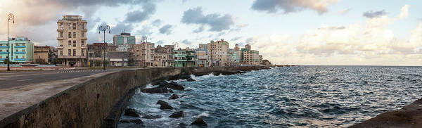 Malecon Wall Art - Photograph - Waterfront, Malecon, Havana, Cuba by Panoramic Images