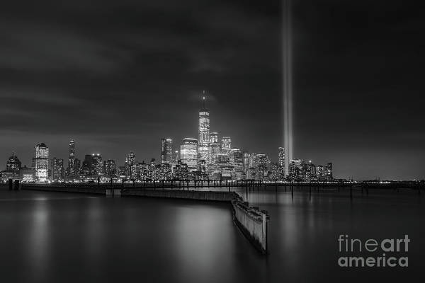 Wall Art - Photograph - Waterfront Walkway Memorial Bw by Michael Ver Sprill