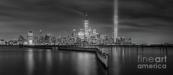 Wall Art - Photograph - Waterfront Walkway Tribute In Light Bw by Michael Ver Sprill