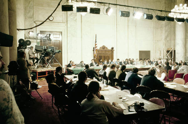 Photograph - Watergate Hearing, 1973 by Granger