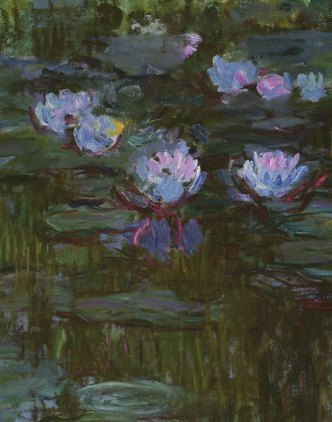 Painting - Waterlilies, 1914 To 17 Detail By Monet by Claude Monet
