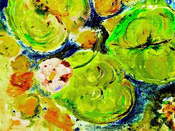 Wall Art - Mixed Media - Waterlily At Dusk by Alida M Haslett