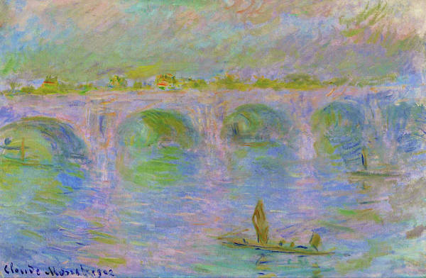 Smoke Fantasy Wall Art - Painting - Waterloo Bridge In London - Digital Remastered Edition by Claude Monet