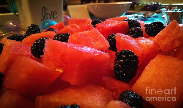 Photograph - Watermelon And Blackberries by Robert Knight