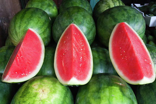 Retail Photograph - Watermelons by Andrew W.b. Leonard