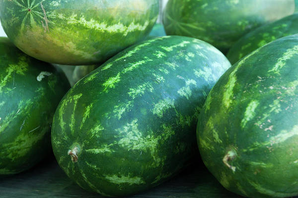 Retail Photograph - Watermelons For Sale At Produce Stand by Danita Delimont
