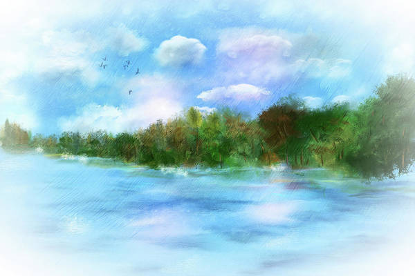Wall Art - Digital Art - Water's Edge by Mary Timman
