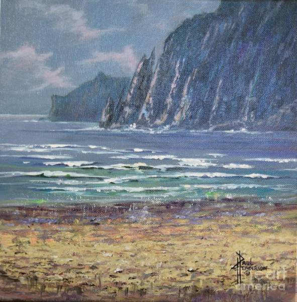 Cannon Beach Painting - Waters Edge by Paul Henderson