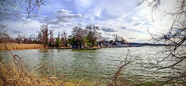 Wall Art - Photograph - Waterscape From Ft Smallwood Pk Pano by Brian Wallace
