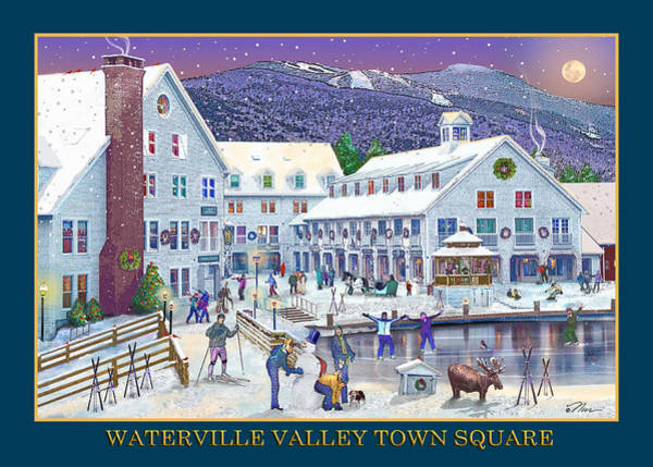 Photograph - Waterville Valley At Wintertime by Nancy Griswold
