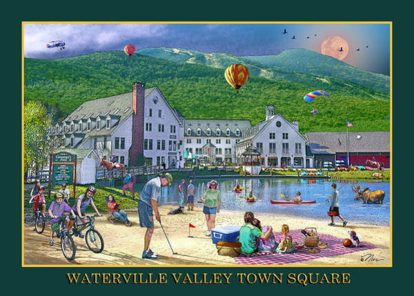 Digital Art - Waterville Valley Summer by Nancy Griswold