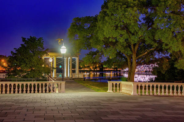 Photograph - Waterworks Gazebo At Night by Bill Cannon