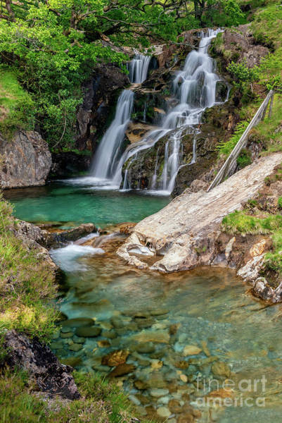 Wall Art - Photograph - Watkin Path Waterfall Snowdonia by Adrian Evans