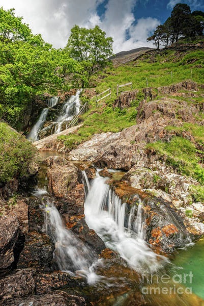 Photograph - Watkin Path Waterfall Wales by Adrian Evans