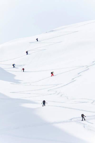 Alpine Skiing Photograph - Watzmannkar, Ski Touring by Franz Pritz