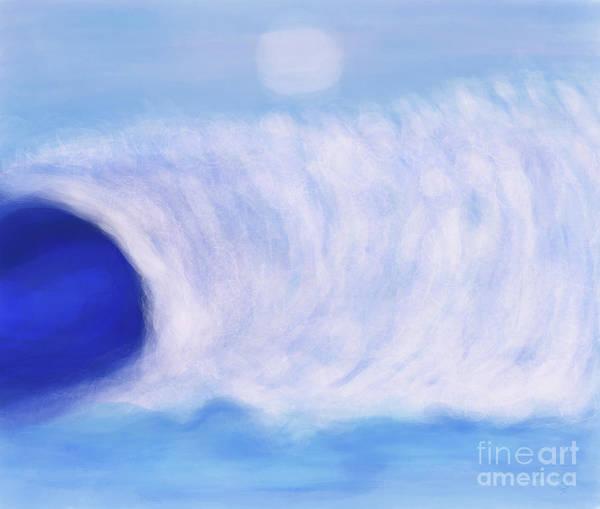 Digital Art - Wave Action Now by Annette M Stevenson