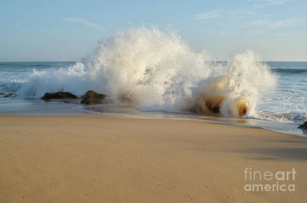 Photograph - Wave And Rocks In Salgado Beach by Angelo DeVal