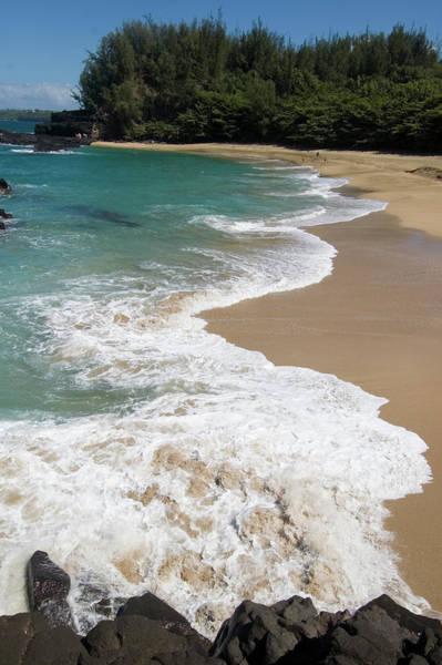John I Photograph - Wave Breaking On Lumahai Beach by John Elk