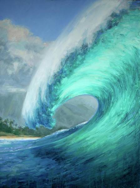 Wall Art - Painting - Wave by Jenifer Prince