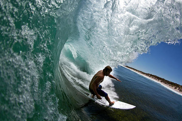 Photograph - Wave by Mike Riley