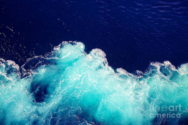 Wall Art - Photograph - Wave Ocean Water Background by Olena Boronchuk
