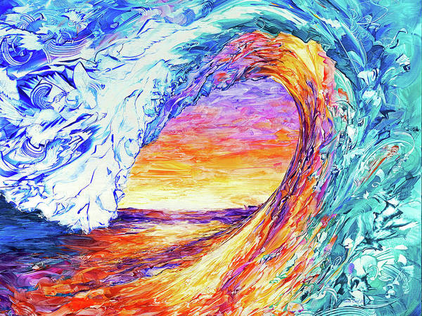 Wall Art - Painting - Wave Of The Harvest Horizontal by Susan Card