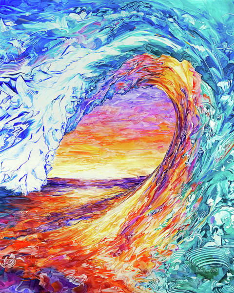 Wall Art - Painting - Wave Of The Harvest/creativity Vertacle by Susan Card