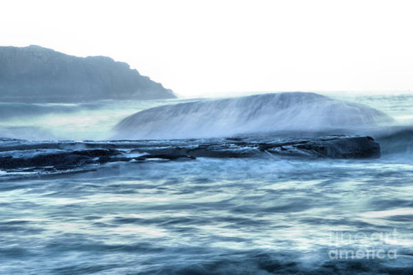 Wall Art - Photograph - Wave Overwhelming A Smooth Rock by Jeff Swan