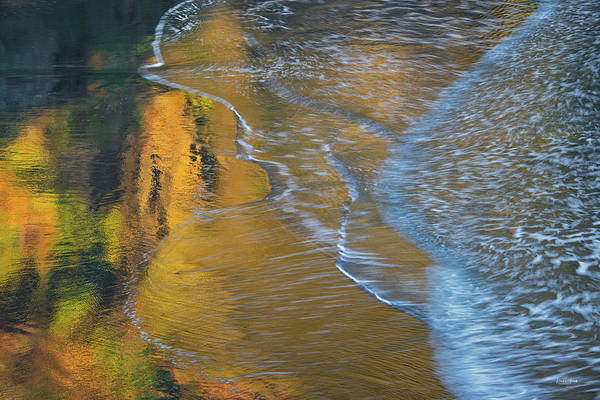 Photograph - Wave Reflections 4 by Leland D Howard