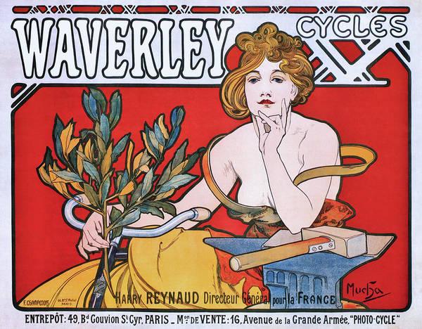 Wall Art - Painting - Waverley Cycles - Digital Remastered Edition by Alfons Maria Mucha