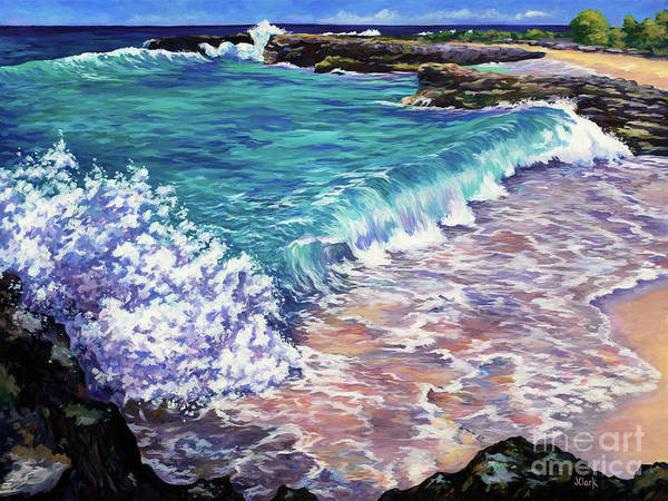 Wall Art - Painting - Waves At Smith Cove by John Clark
