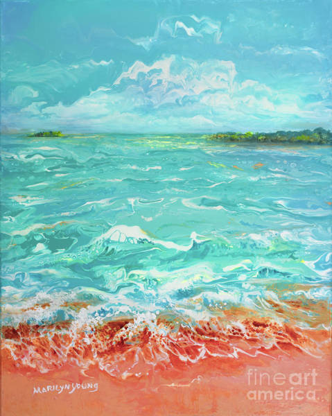 Waves At Sombrero Beach Art Print