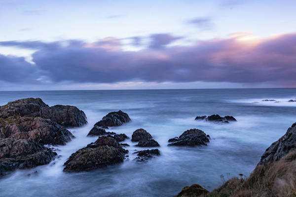 Waves At The Shore In Vesteralen Recreation Area Art Print