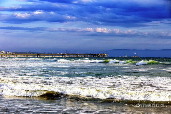 John I Photograph - Waves At Venice Beach by John Rizzuto