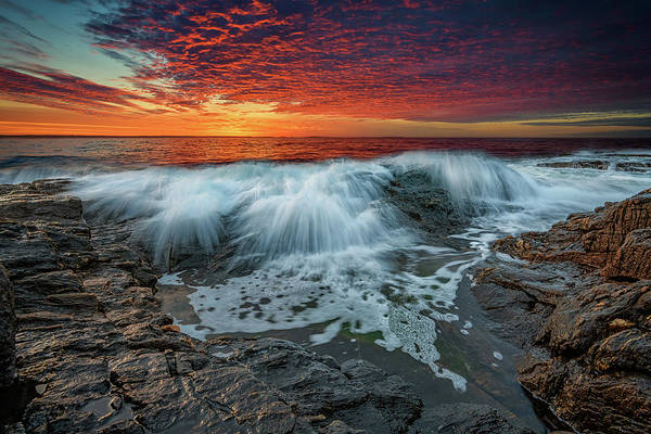 Wall Art - Photograph - Waves Crash At Daybreak by Rick Berk