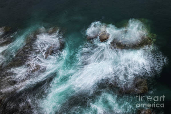 Wall Art - Photograph - Waves Crashing Against Rocks On The by Between Life
